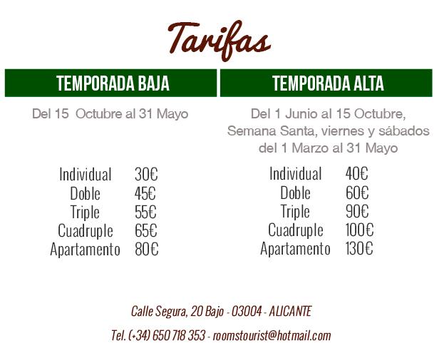guest house alicante precios